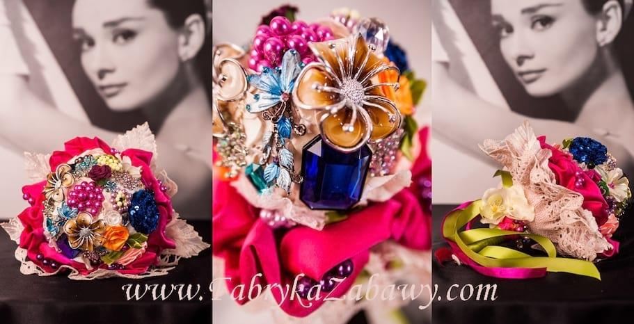 Bukiet ślubny z broszek Chitti Citti
