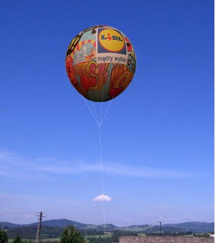 duże balony reklamowe z kotwicą