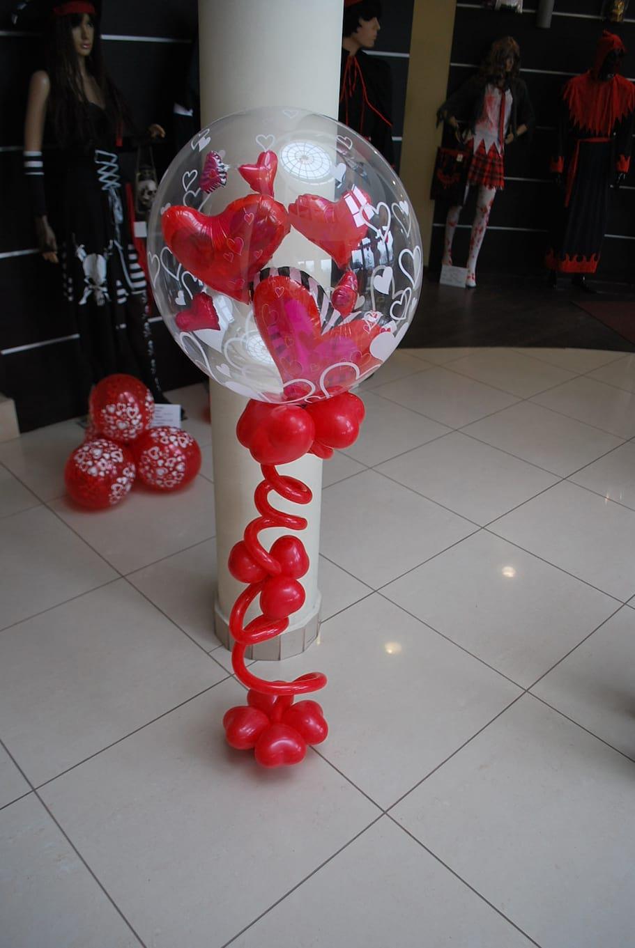 bukiet balonowy z balonem bubbles