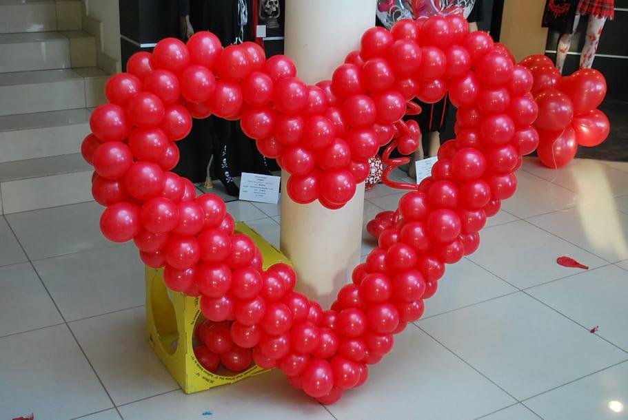 serce z balonów