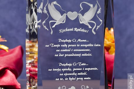 Firma na wesele: Kryształy3D Podziękowania dla Rodzic