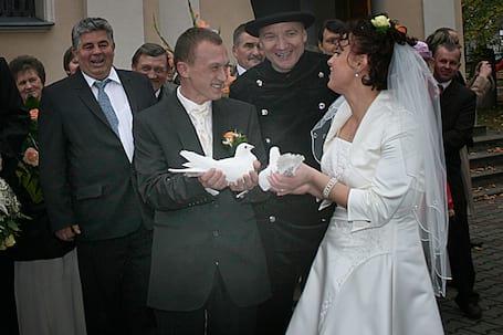 Firma na wesele: Białe Gołębie na ślub - Warszawa