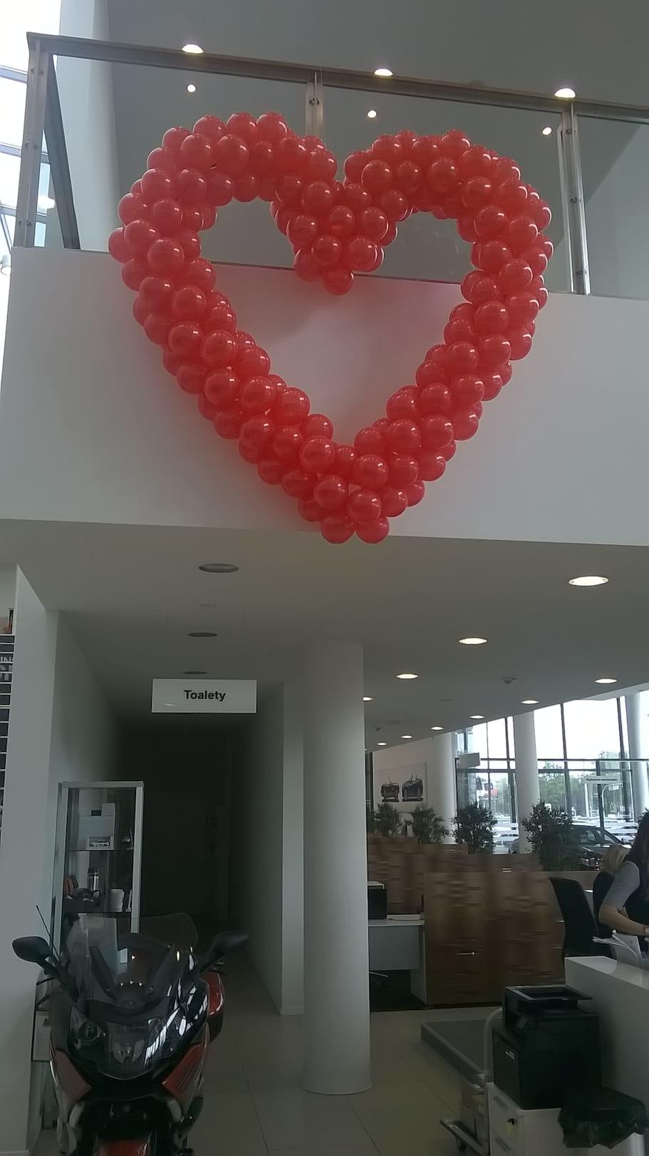2 metrowe serce z balonów