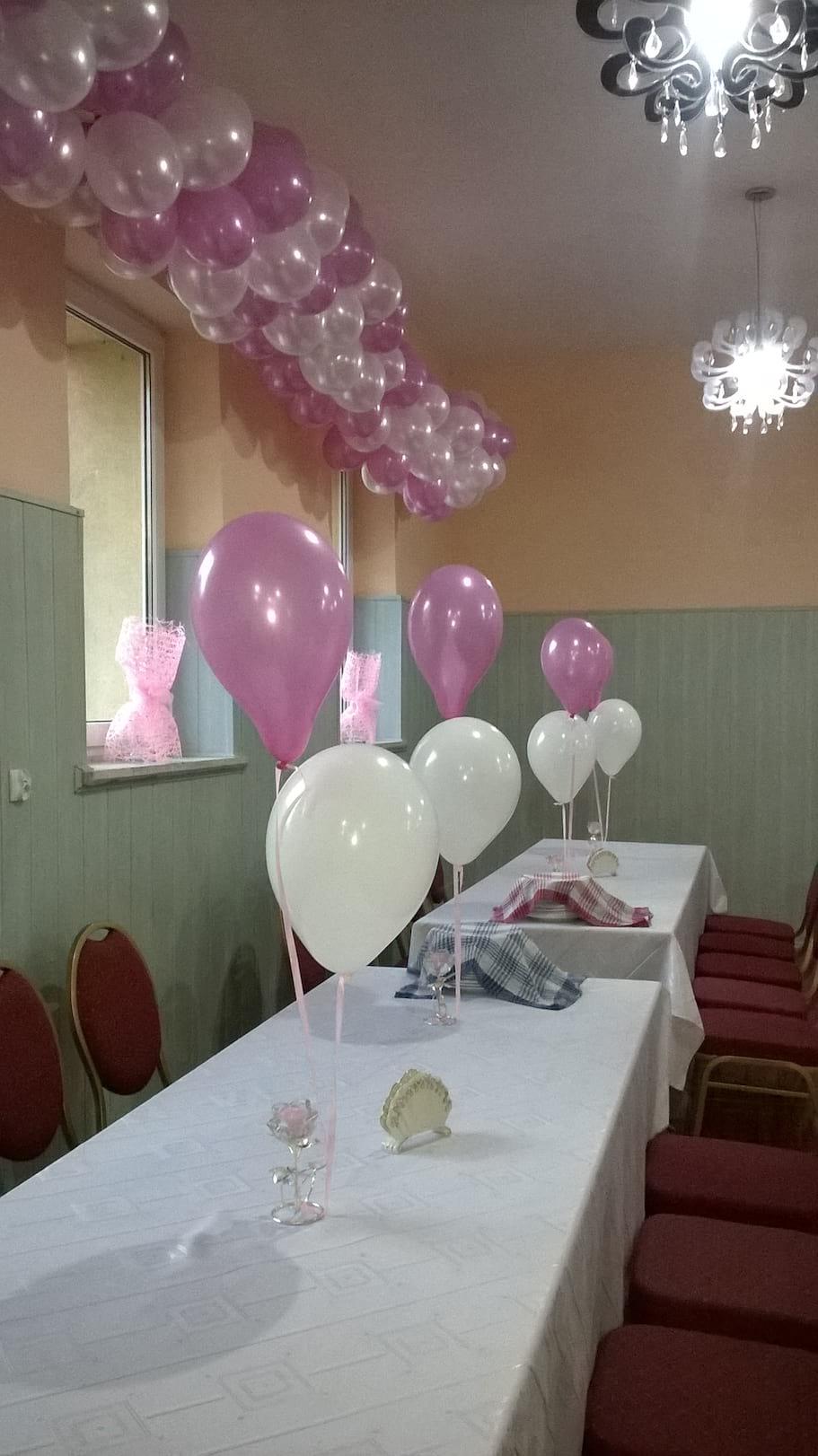 dekoracja sali na komunie sw.