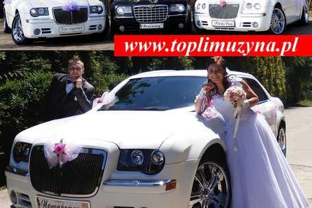 Firma na wesele: Chrysler 300C - biały i czarny ślub