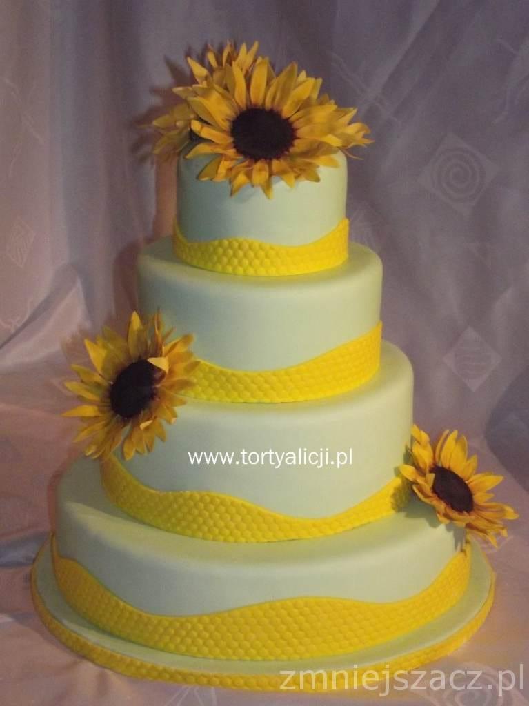 Tort ze słonecznikami