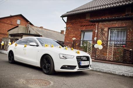 Firma na wesele: Białe Audi A5 ślub wesele