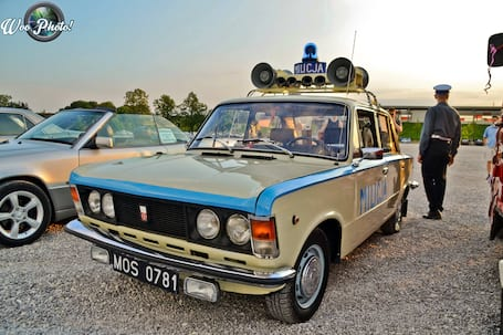 Firma na wesele: Fiat125p milicja Warszawa