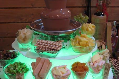 Fotobudka i fontanny czekoladowe