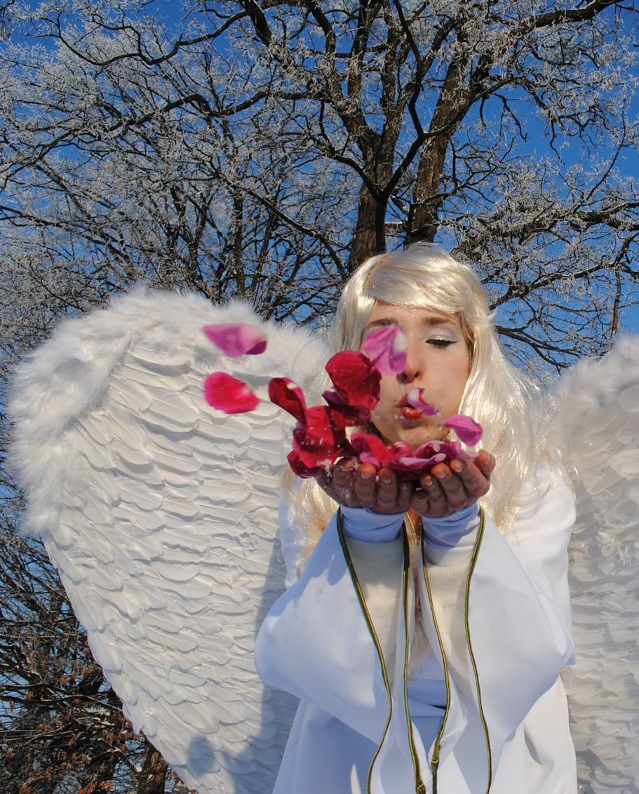 Aniołki ślubne - płatki