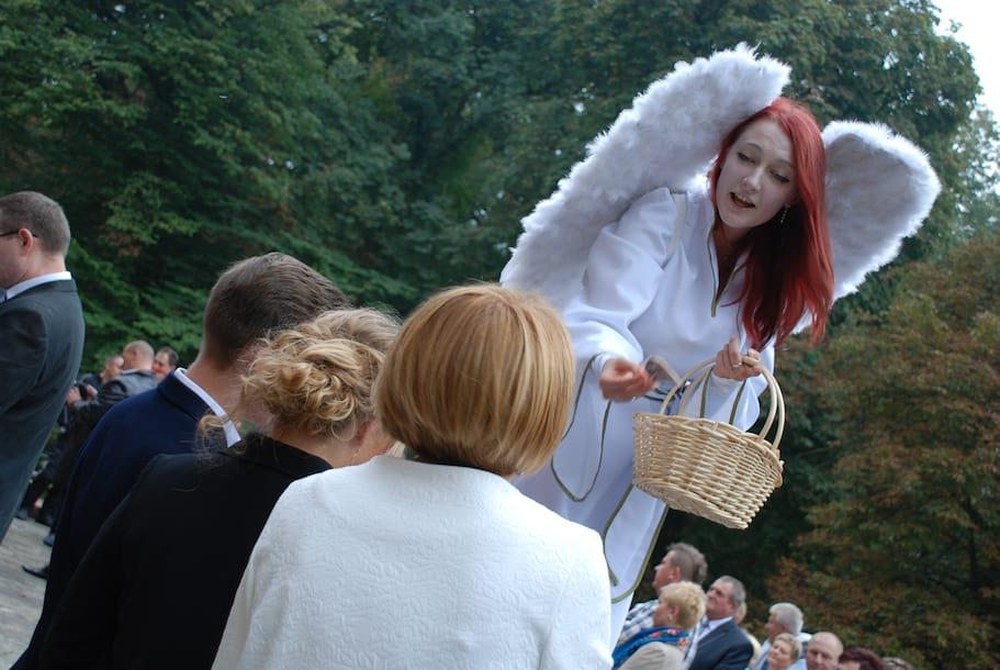 Aniołki ślubne - słodkie prezenty