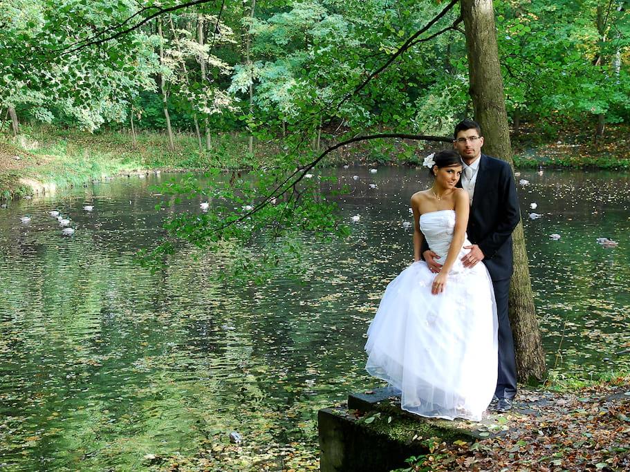plener ślubny nad morzem, nad jeziorem