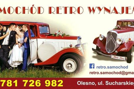 Firma na wesele: Samochód retro do ślubu