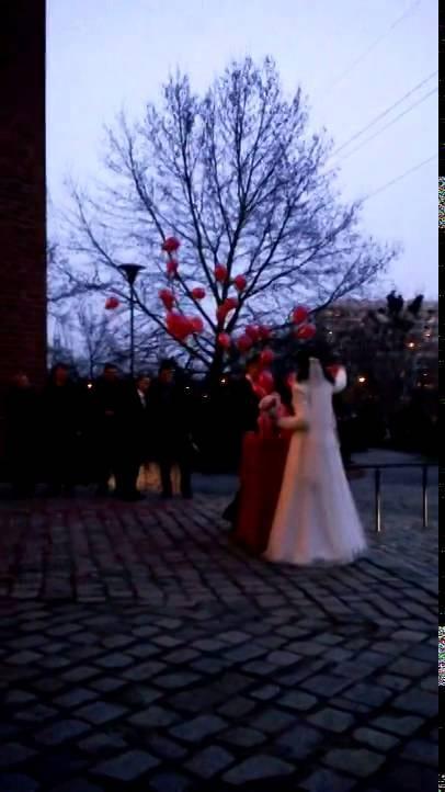 Balomania eu Balony z helem czerwone pudełko slub Wrocław 1.02.2014