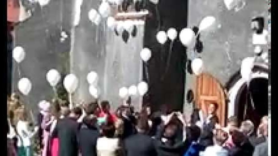 Balomania Wypuszczanie Białych Balonów z Helem Ślub