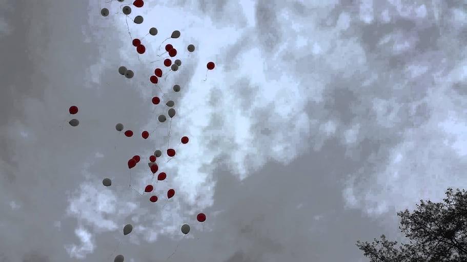 Wypuszczanie Balonów z helem na Ostrowie Tumskim we Wrocławiu