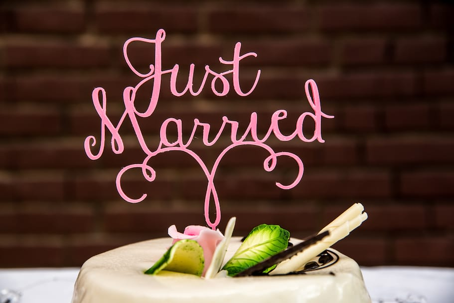 Topper na tort JUST MARRIED