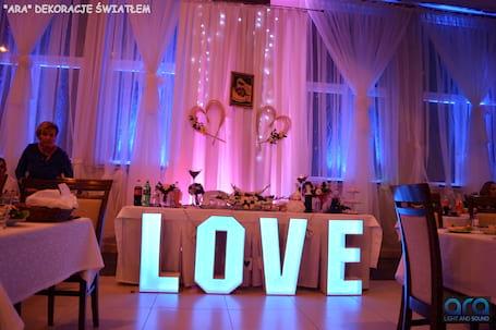 Firma na wesele: Dekoracje światłem - ARA