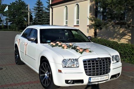Firma na wesele: Chrysler 300C  - biały i czarny