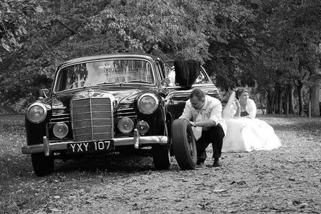 Zabytkowym Mercedesem do Ślubu
