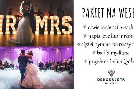 Firma na wesele: DEKORUJEMY ŚWIATŁEM