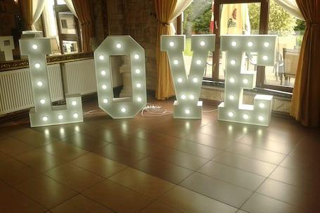Firma na wesele: Napis LOVE - 120 cm! Gigant!