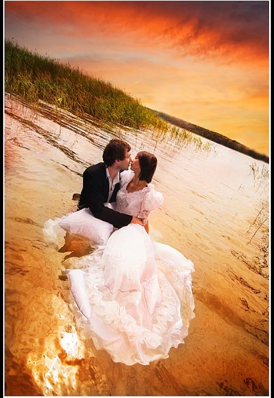 Sesja zdjęciowa w plenerze nad jeziorem